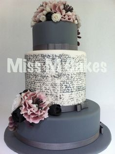Love Letters Wedding Cake...add some skulls and my baby's letters and this cake is all for me. I have a whole notebook full from him I could do more tiers