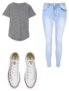 """"""""""" by tejadac on Polyvore featuring Madewell, Glamorous and Converse"""