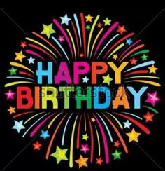 Free birthday cards download free greetings cards animated happy birthday black background very colorful wording and stars bookmarktalkfo Images