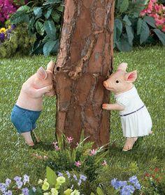 Hide & Seek Pig Statues