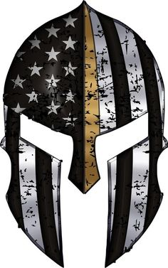 Find the best prices on Warriors Bleed Gold Spartan Helmet Metallic Thin Blue Line - 2 in. Decal and save money. Spartan Helmet Tattoo, Warrior Helmet, Spartan Warrior, Body Art Tattoos, Sleeve Tattoos, Helmet Drawing, Spartan Logo, American Flag Art, Patriotic Tattoos