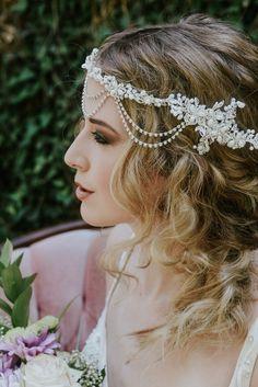 Pearl bridal headpiece braid hairstyle boho bride styled shoot by Wedding Photographer Julie Sawatzky Ontario Canada Boho Bride, Bridal Headpieces, Wedding Shoot, Traditional Dresses, Braided Hairstyles, Hair Makeup, Pearl Bridal, Pearls, Ontario