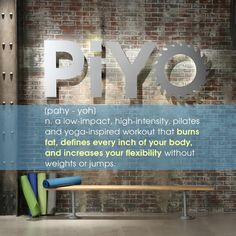 PiYo is my new favorite workout - it has cardio, yoga and pilates all in one!