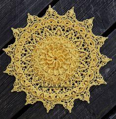 Crochet Mat, Crochet Mandala Pattern, Thread Crochet, Crochet Doilies, Knit Patterns, Etsy App, Beautiful Crochet, Dream Catcher, Designer