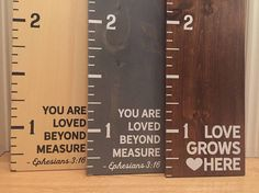 rustichustle - Custom painted wooden growth chart ruler oversized kid's child's height marker personalised chart custom order child's / family name Custom Woodworking, Woodworking Projects Plans, Growth Chart Ruler, Growth Charts, Measuring Stick, Height Chart, Cricut, Kids Wood, Custom Paint