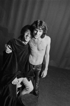 Portrait of Jim Morrison and Ray Manzarek of The Doors