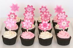 Baby Shower Cupcakes for Girls Design