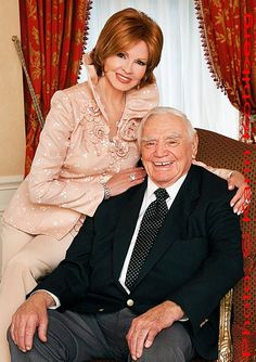 Ernie & Tova Borgnine, Portrait taken at home.