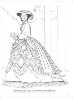 Dover Pubs Victorian Fashions Coloring Book - on the Dover homepage, you can register for their weekly sampler email, which gives you free printable pages from their coloring and paper doll books.