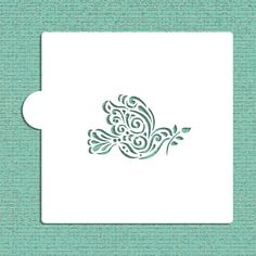 "Dove of Peace with Olive Branch Cookie and Craft Stencil - 1.9""H x 3""W  $5"