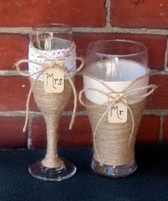 Personalized Couple Gift / Rustic Wedding by CarolesWeddingWhimsy, I just sold this set of 2 Rustic Wedding Toasting Champagne Flute and Matching Beer Pilsner.  No worries, I have more.  You can find them here https://www.etsy.com/listing/238625748/personalized-couple-gift-rustic-wedding