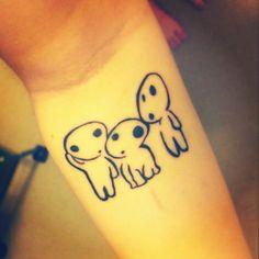 Ghibli Kodama Tattoo. Princess mononoke spirit wrist tattoo!