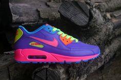 online retailer 8ab1c baad1 Acheter Nike - Air Max - violet rose rouge  orange  vert fluo Femme -  Acheter Nike Air Max violet rose rouge  orange  vert fluo Femme