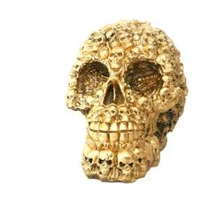 A unique skull head MADE of tiny skulls and bones.  Lovers of macabre and oddities will fall in love with this skull collectible. It is remarkably