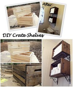 Crate wall storage - 50 Decorative Rustic Storage Projects For a Beautifully Organized Home