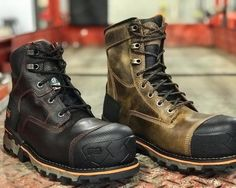 """1045548de0d3 We now have Timberland PRO s new 6"""" and 8"""" unlined Composite Toe Boondock  boots in stock. These rugged CSA boots were designed…"""""""