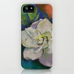 Gardenia Flower iPhone Case by Michael Creese - $35.00