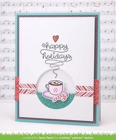 Lawn Fawn Intro: Love You a Latte & Stitched Rectangles Stackables (via Bloglovin.com )
