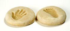 Hånd og fod aftryk i saltdej