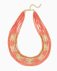 charming charlie | Metallic Geo Beaded Necklace | UPC: 400000251813 #charmingcharlie