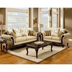 Furniture of America Artizani 2-piece Sofa and Loveseat Set | Overstock.com Shopping - Great Deals on Furniture of America Sofas & Loveseats...