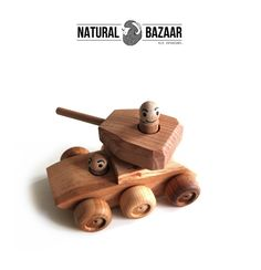 t34_Wooden Tank /  Finished by Hand, Eco Made  from Natural Bazaar by DaWanda.com