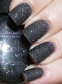 Nicole by OPI Gumdrops Collection: A-NISE TREAT: is a black base with silver sparkle. I feel like we have seen this color before but I still like it, I love how the black and silver looks when it's matte! I used 2 coats.