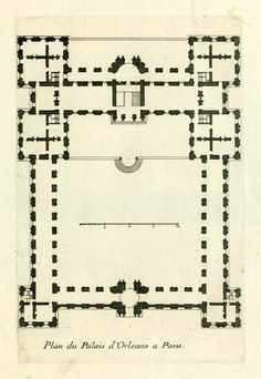 Plan of the Palais d'Orléans, Paris. Amazing.