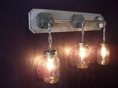 Rustic Mason Jar Light with awesome country feel (ebay)