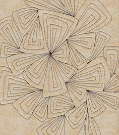 Great quilting design //this would make a good zentangle design Machine Quilting Patterns, Longarm Quilting, Quilt Patterns, Free Motion Embroidery, Free Motion Quilting, Machine Embroidery, Ornament Pattern, Quilt Modernen, Quilt Stitching