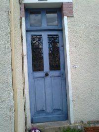 Porte d 39 entr e semi vitr e en aluminium fermi re fpee for Porte d entree maison ancienne