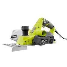 Model 6 Amp in. Hand Planer (Green) - Ryobi 6 Amp in. Rear mounted kickstand protects work piece or table area from idle planer or blades. New and improved GRIPZONE overmold for optimum grip and user comfort. Ryobi Tools, Router Tool, Jig Saw Blades, Wood Planer, Stump Table, Floating Deck, Cordless Circular Saw, Diy Sliding Barn Door, Ikea Cabinets