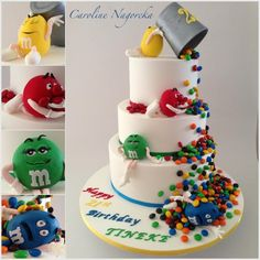 Check out this adorable M&M'S character birthday cake!