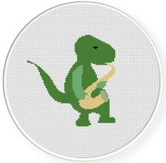 FREE for Dec 11th 2015 Only - Dino Sax Cross Stitch Pattern