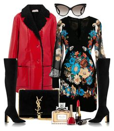 """,,"" by isror on Polyvore featuring Christian Dior, Christopher Kane, Roberto Cavalli, Yves Saint Laurent and statementcoats"