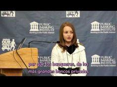 Victoria Grant, de 12 años, brindó un discurso en el que ofrece soluciones para salir de la crisis, informando previamente de todos los puntos que nos han llevado a la situación económica que sufrimos en la actualidad. (IDEAL.ES)