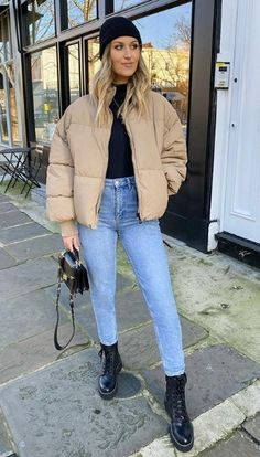 City Outfits, Casual Winter Outfits, Winter Fashion Outfits, Classy Outfits, Trendy Outfits, Outfits Otoño, London Outfit, Teenager Outfits, Ideias Fashion