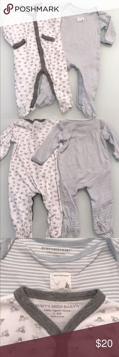 Burts Bees Baby PJs Burts Bees Baby PJs. 3-6 Months. VGUC! 2 Pairs Of PJs as shown. Super soft organic cotton. No trades! PRICE IS FIRM unless bundled! Thanks! Burt's Bees Baby One Pieces Footies