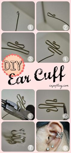 How To Make Beautiful Ear Cuff, lovely, http://top10-creative-diy.blogspot.com/2013/10/how-to-make-beautiful-ear-cuff.html