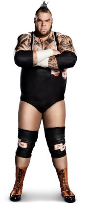 "Brodus Clay -   Height: 6'7""  Weight: 375 lbs.  From: Planet Funk  Alias: The Funkasaurus"