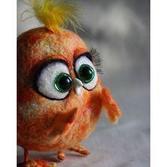 Цыплят много не бывает.  #авторская_игрушка #интерьерная_игрушка #птички #фельт #фильцнадель #подарок #милашка #цыпленок #тыгыдымтыгыдым #герои_мультиков #birds #angry_birds #handarbeit #handmade #my_toys #needlefelting #needlecraft