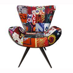Fab.com | Frida Chair Suzani Patch I Multi