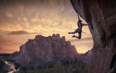 escalade, falaise, rock climbing in Smith rock Oregon - Etats Unis (Kiki kili)