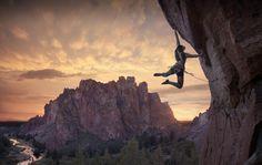 escalade, falaise, rock climbing in Smith rock Oregon - Etats Unis (Kiki kili)