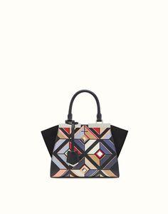 1d9d0c16819 FENDI MINI 3JOURS - bolso Tote de piel con estampado multicolor Estampado