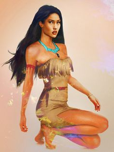 Disney's Pocahontas as imagined by Jirka Vaatainen [Finnish graphic design student]