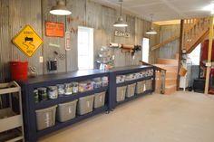 Barn-garage-workspace-reveal-NewlyWoodwards06 http://www.mancavegenius.org/category/man-cave-ideas/