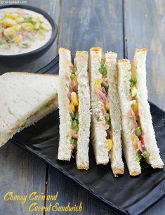 Cheesy Corn and Carrot Sandwich, Travel Sandwich