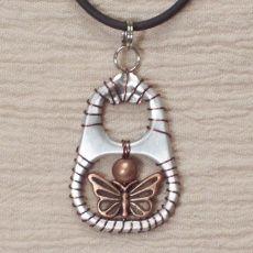 Ann-Made, LLC - Ann-Made Pendants - Brown Julie (pop-top pendant! sjm)