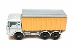 Matchbox Cars #47c DAF Tipper Container Truck Silver Version by Lesney, Made in England 60's toy Car Great Gift Idea  for Dad by RememberWhenToys on Etsy